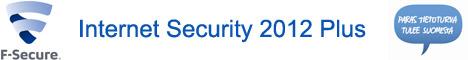 F-Secure Internet Security 2012 PLUS (FIN/SV/UK) CD 1YR 3xPC & 1xPHONE raj.erä & 3x4 kk FIS-lisenssiaikaa kaupan päälle & v2014-ilmaispäivitys