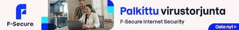 F-Secure Internet Security (FIN/SV/UK) CD 1xPC 1 vuosi SuperTarjous raj.erä & 7 kk FIS- & 3 kk FMS-lisenssiaikaa kaupan päälle