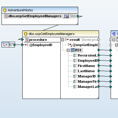 Mapping a stored procedure