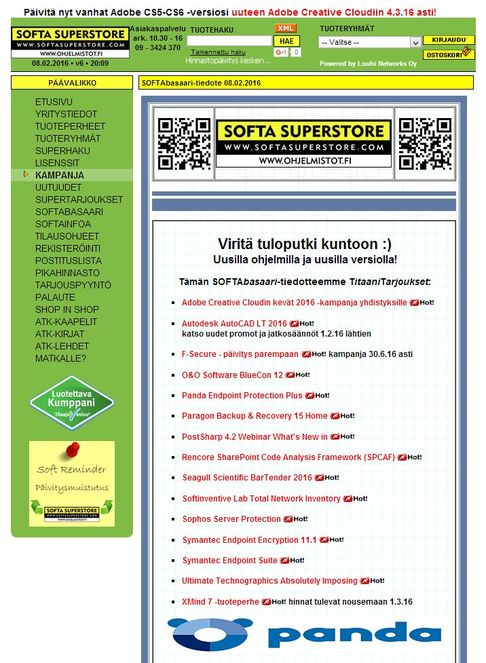 Katso SoftaBasaarin TitaaniTarjoukset verkkojulkaisuna