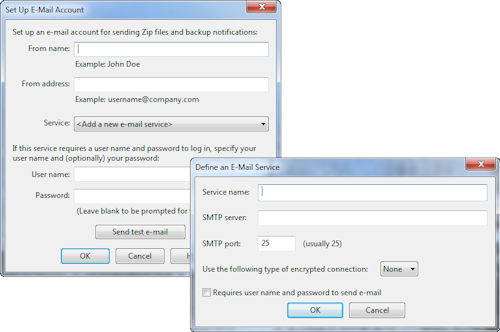 WinZip 15 alternative email system configuration