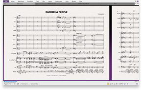 Optimized for single monitor use—only in Sibelius