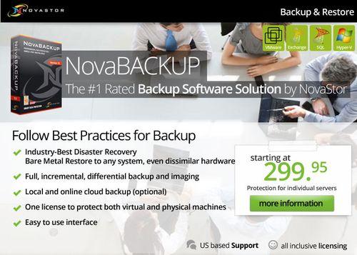 NovaBACKUP, The #1 Rated Backup Software Solution by NovaStor.
