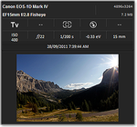 EXIF data with thumbnail in ACDSee 16